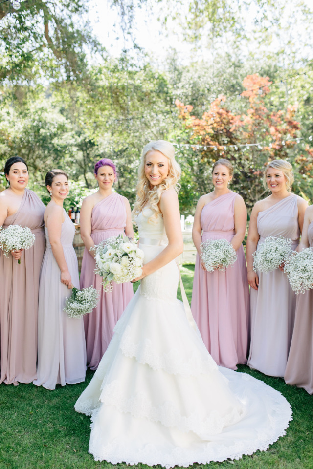 A White And Pink Wedding With Baby\'s Breath For Days