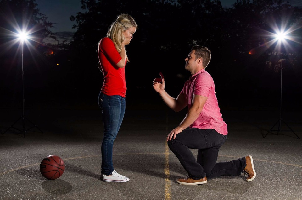 The Couple That Plays Together Stay Together Basketball Proposal