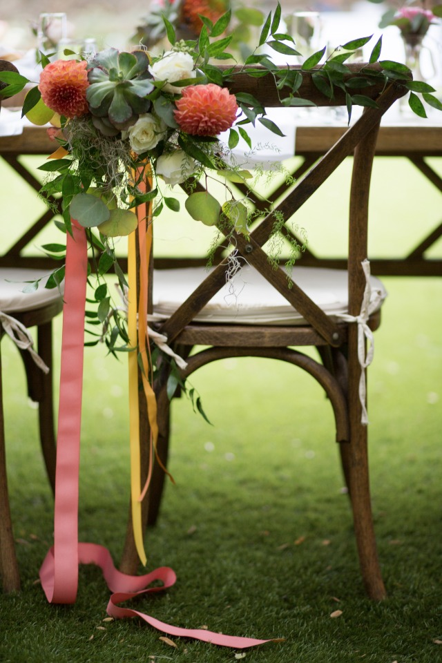 bride and groom seat decor