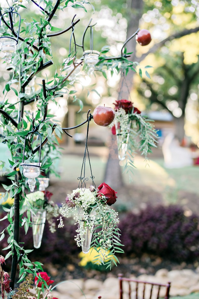 apple tree wedding decor