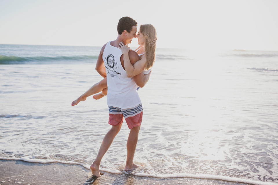 swimsuit beach engagement session