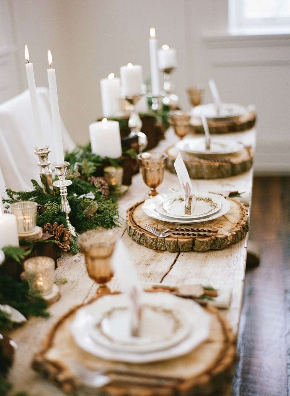 26 ideas on how to transform your thanksgiving table - Deco de noel naturelle ...