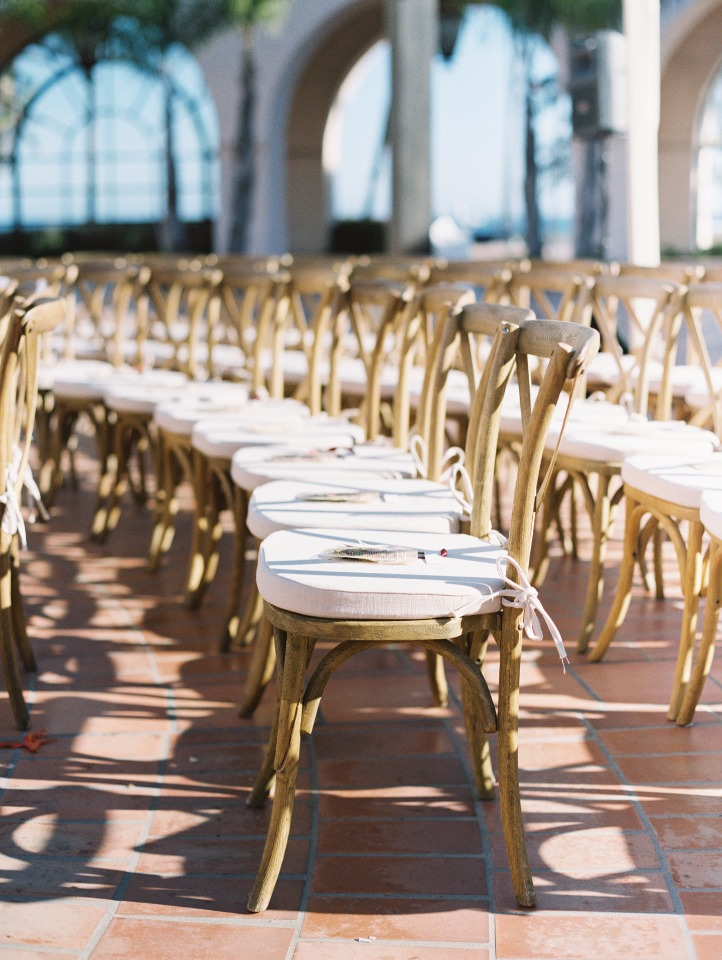 Cross back ceremony chairs