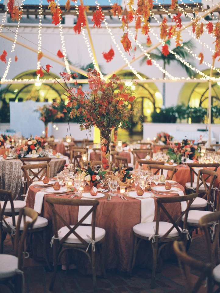 Gorgeous fall reception in Santa Barbara