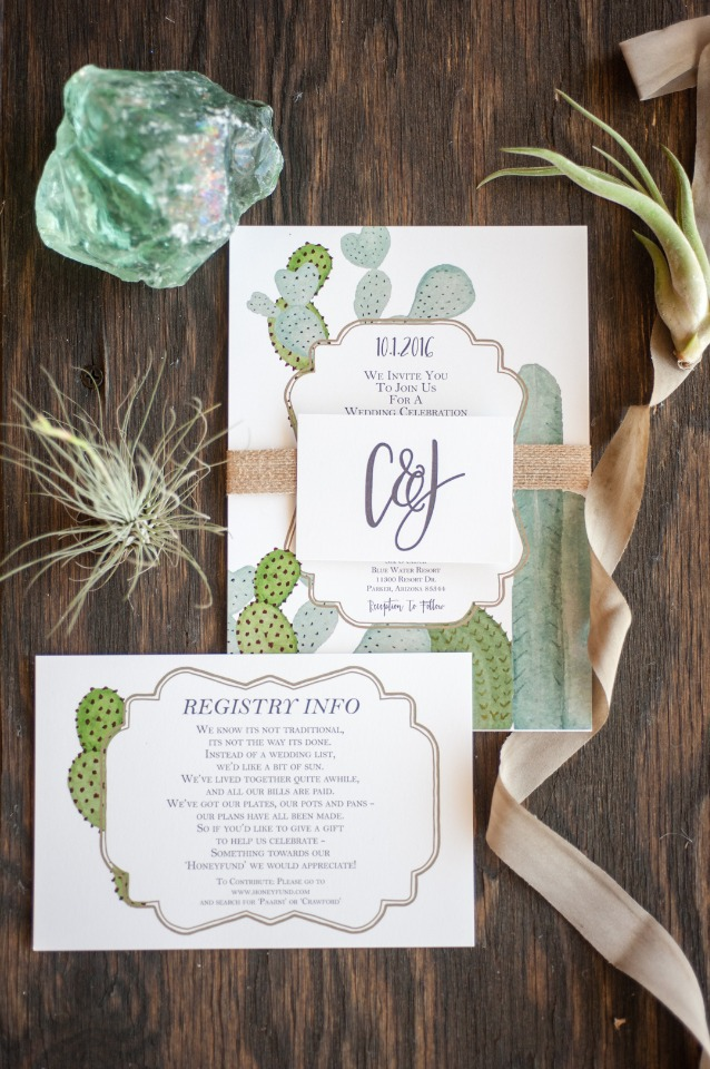 Cacti invitation suite