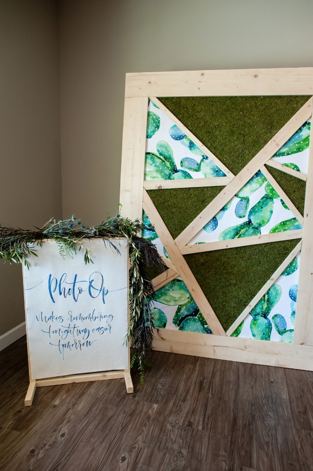 Geometric photo booth backdrop
