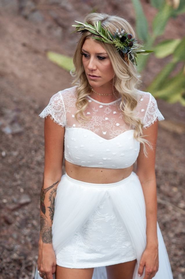 Desert inspired bridal look