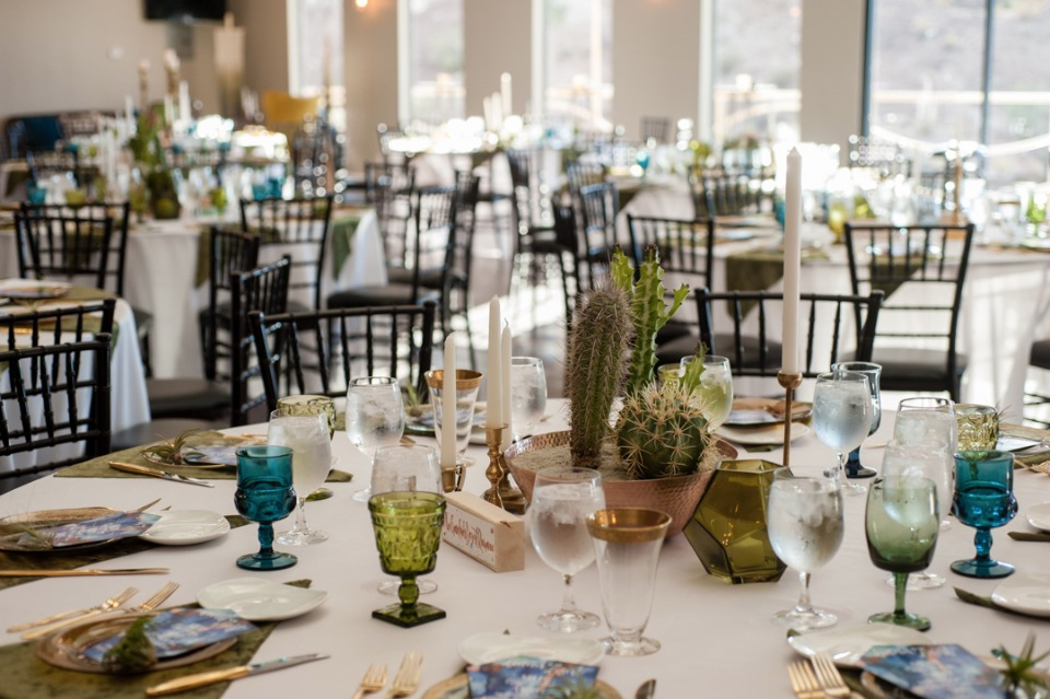 Desert inspired reception decor