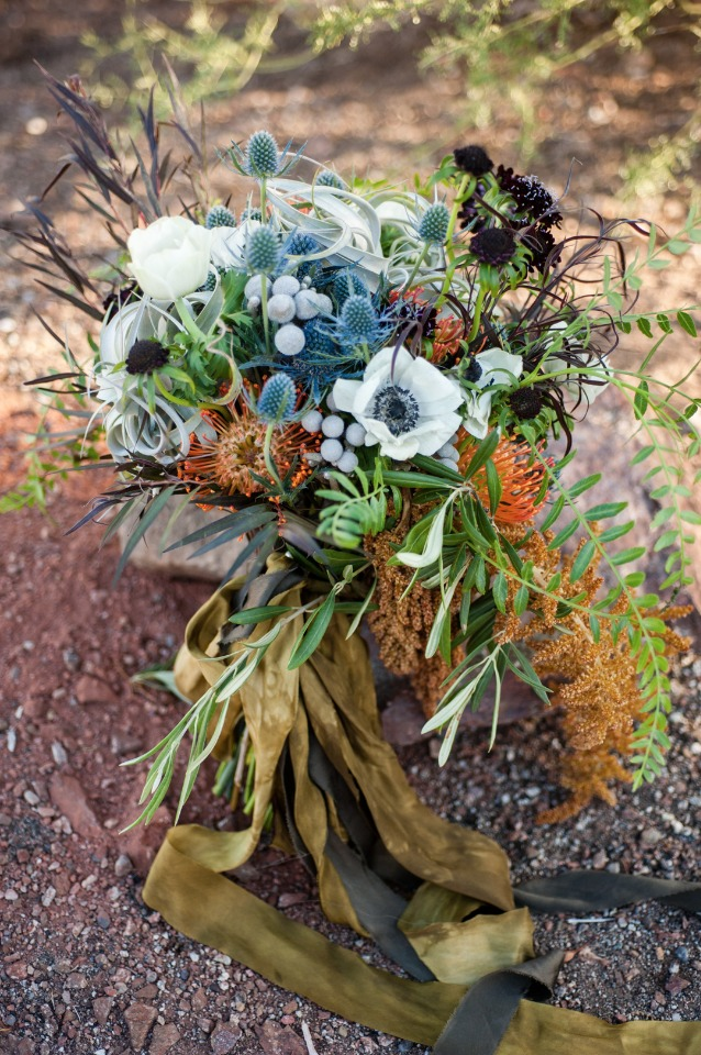 Desert blooms wedding bouquet