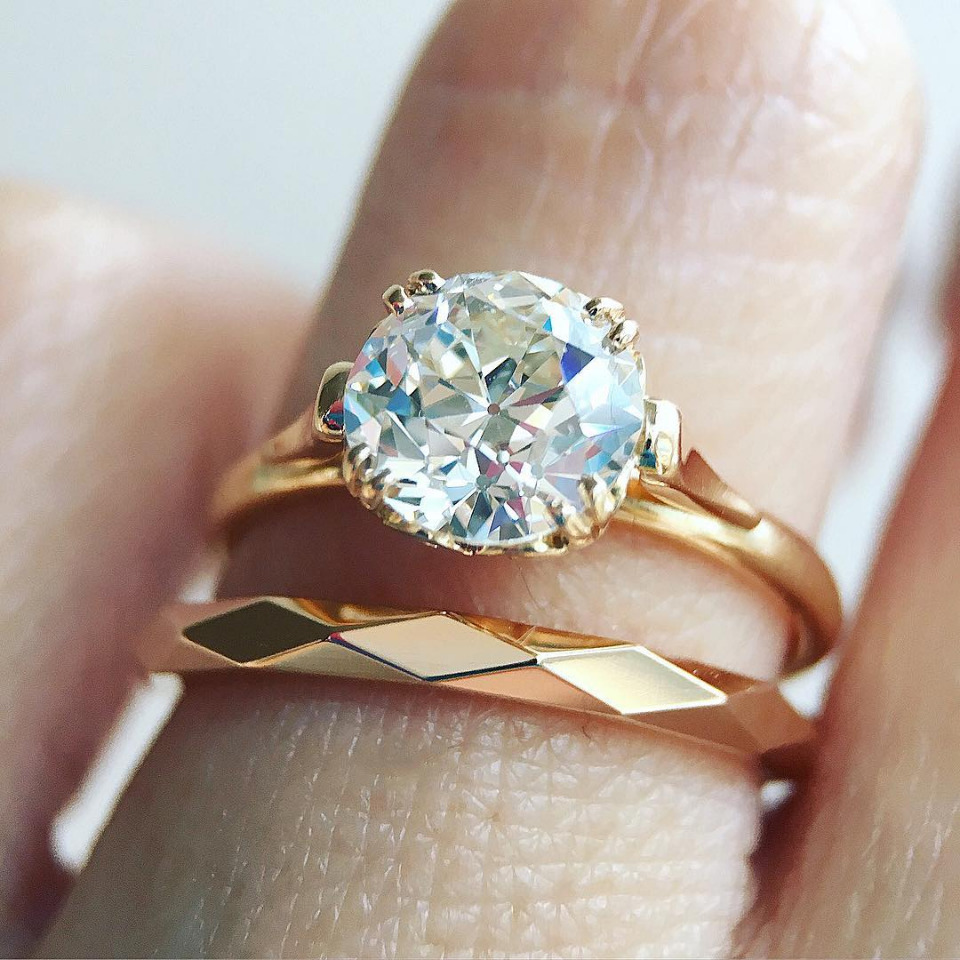 1.48ct Old European cut Sydnee diamond engagement ring
