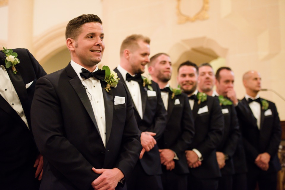 formal groom and all his men