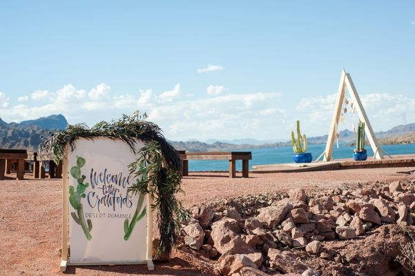 Dreamy Non-Traditional Geometric Desert Romance Wedding In Arizona