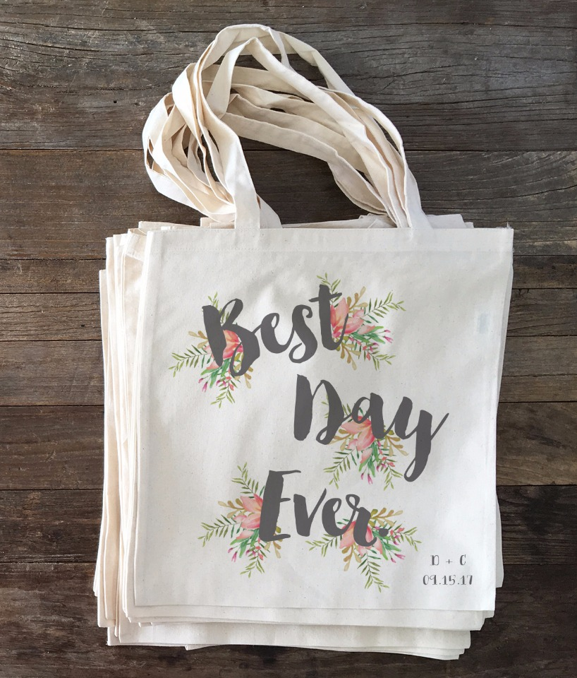 custom wedding tote