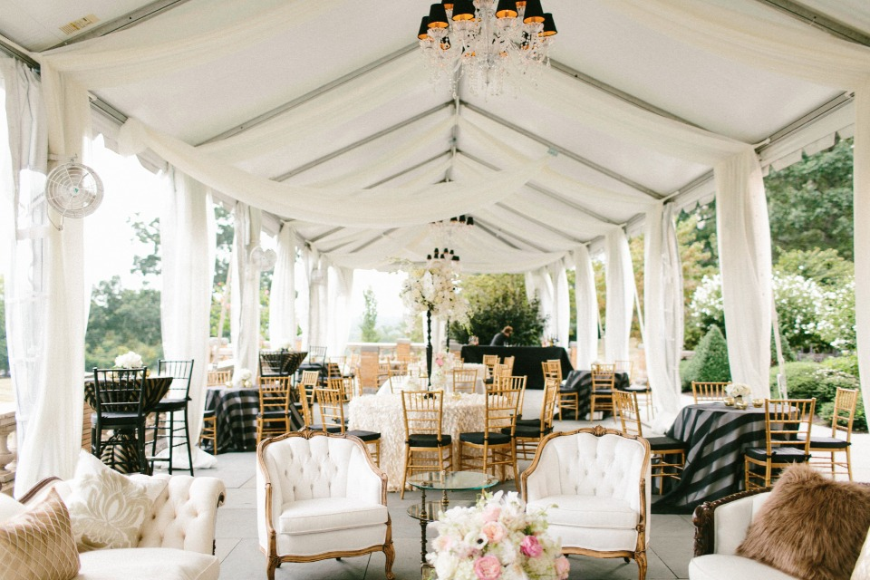 Elegant glam reception