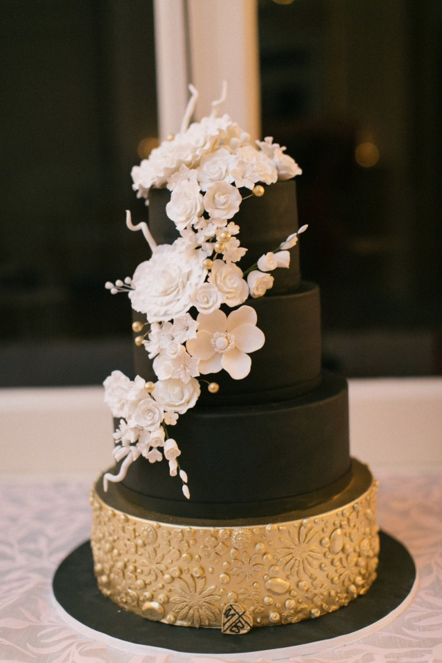 hollywood wedding cake gorgeous glam inspired black and white wedding 15273
