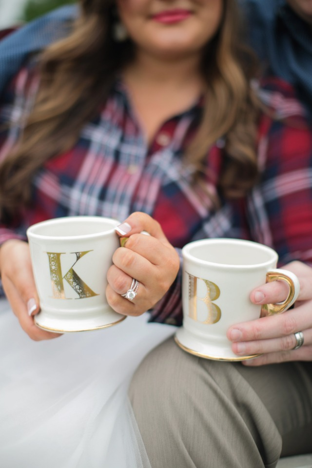 Cute mugs with initials