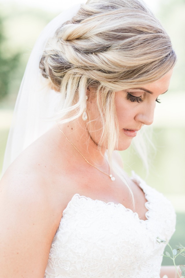 wedding updo hair idea