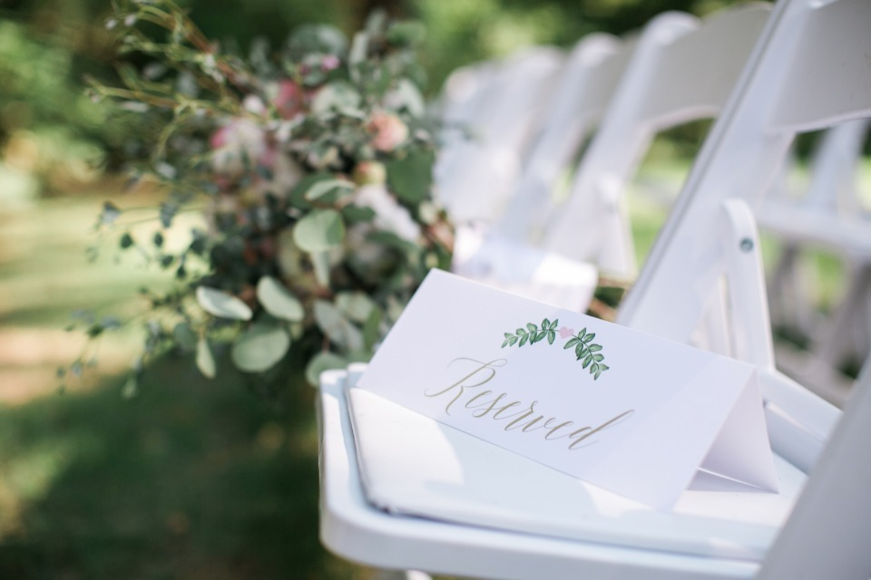 reserved wedding ceremony seats