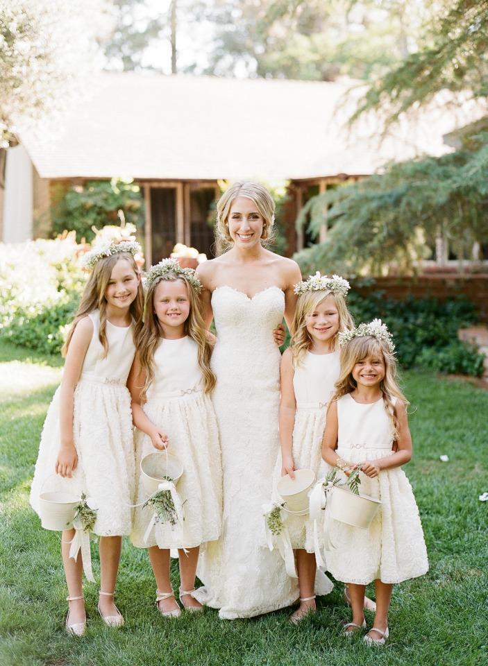 a whole flock of flower girls