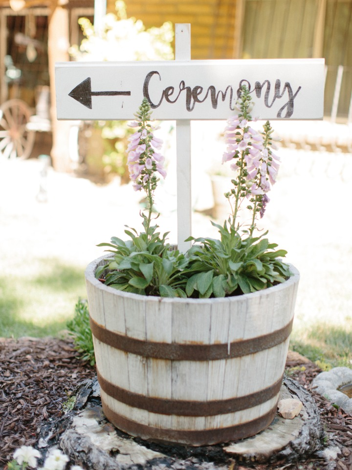 directional ceremony sign