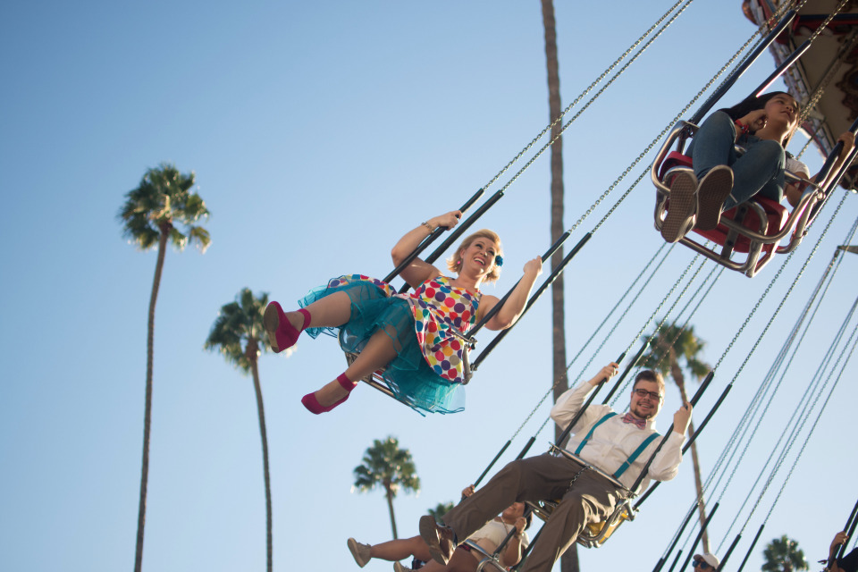 swings at the county fair in california