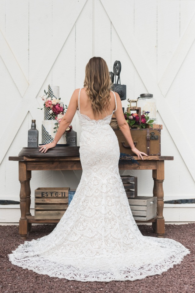 romantic BHLDN wedding dress