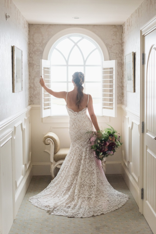 all dressed up in BHLDN gown