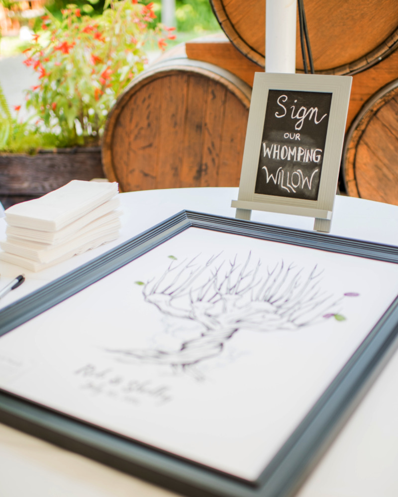 Whomping Willow for Guests to Sign