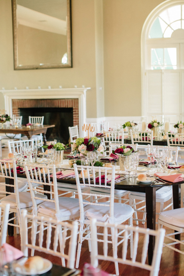 family seating style wedding reception