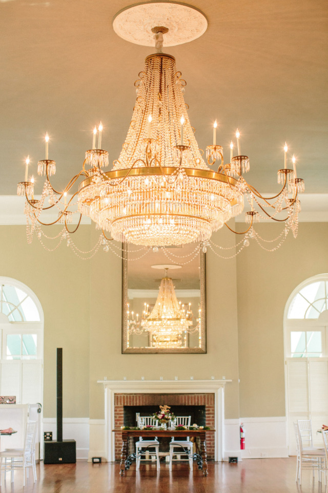 giant chandelier wedding venue