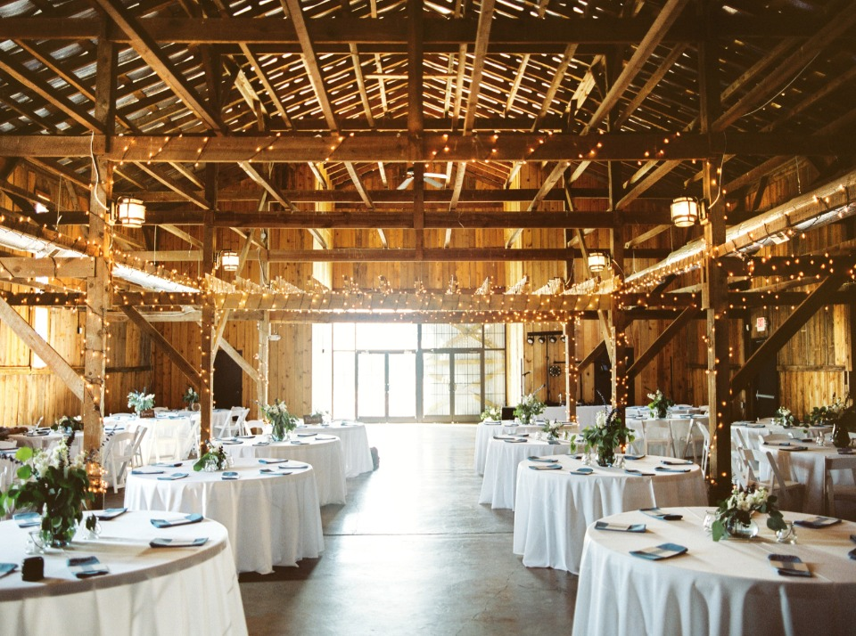 rustic glamour wedding reception venue