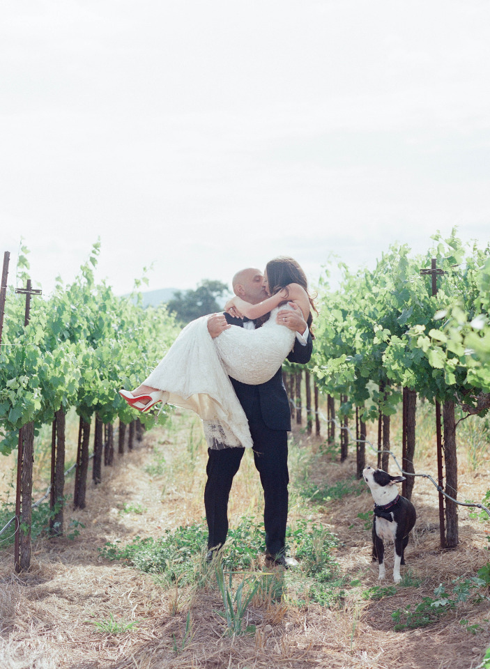wedding photography in a vineyard