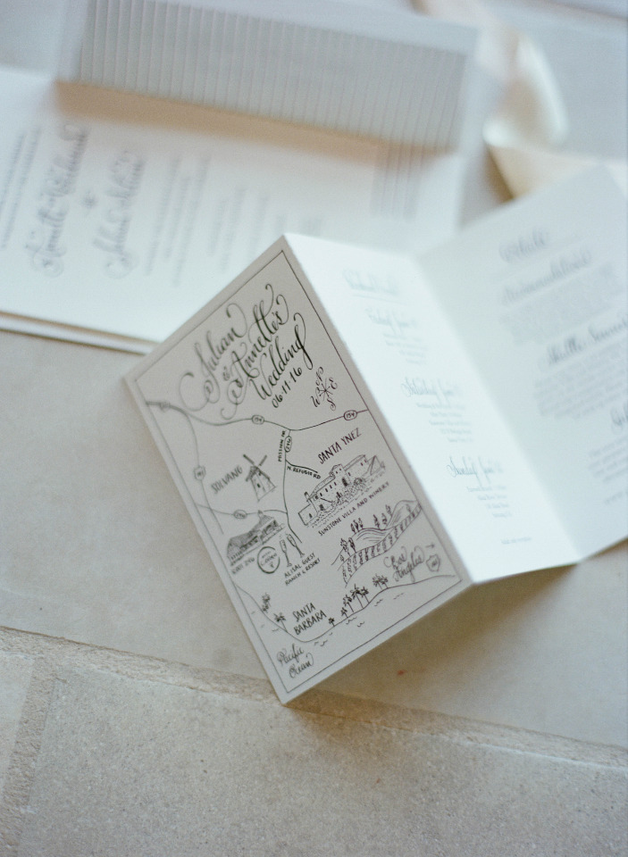 folded wedding invites