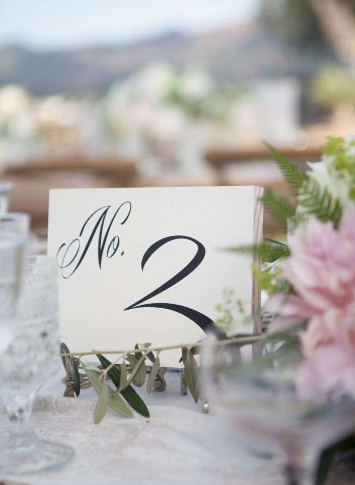pretty classic wedding table numbers