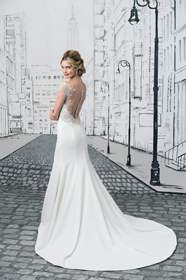 Fit and Flare Gown with Illusion Keyhole Back and Intricate Beading