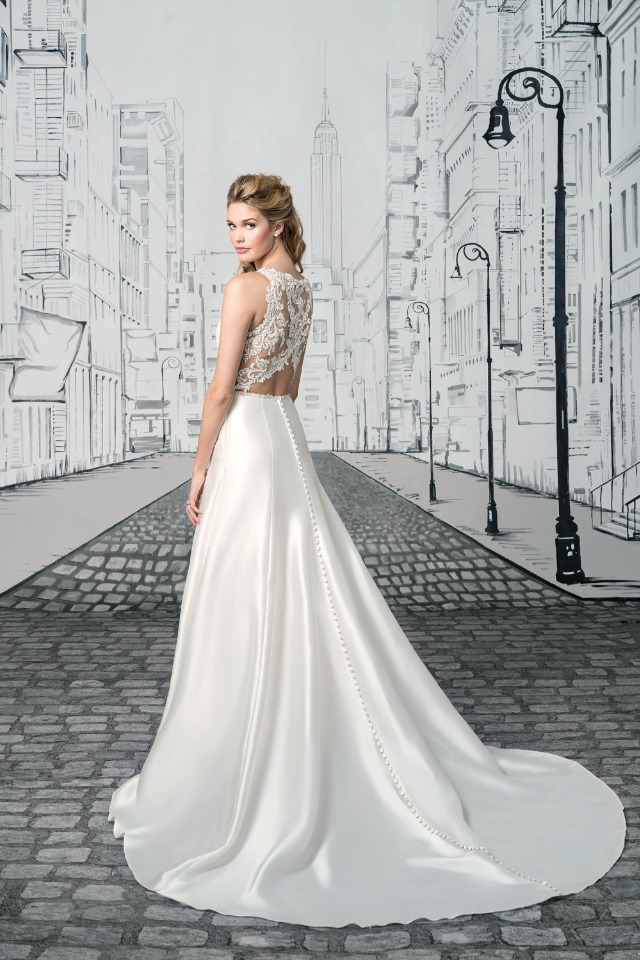 Sequin Beaded Lace Bodice and Open Keyhole Back
