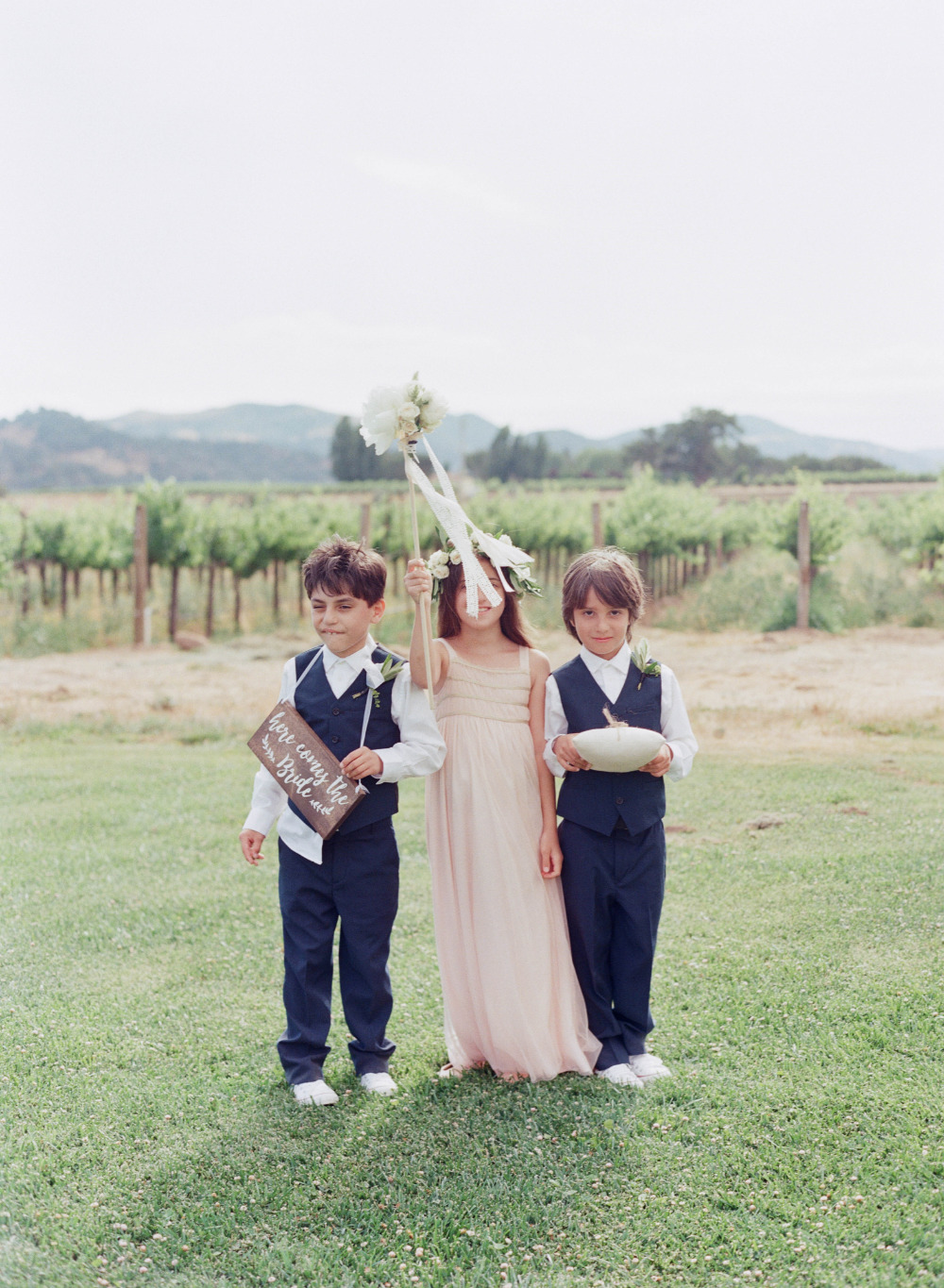 cute little ring bearers and flower girl