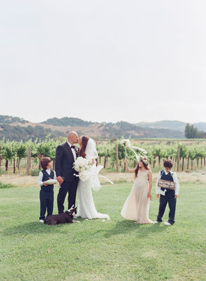 Beautiful Spring Sunstone Villa Wedding Full Of Peonies And A Puppy