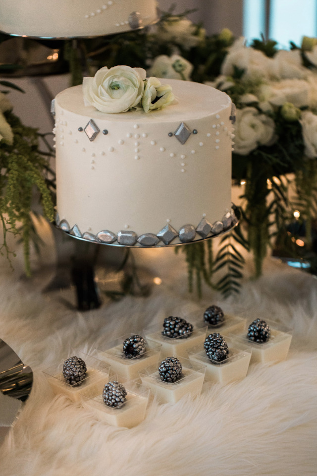 Wintry Dessert Table