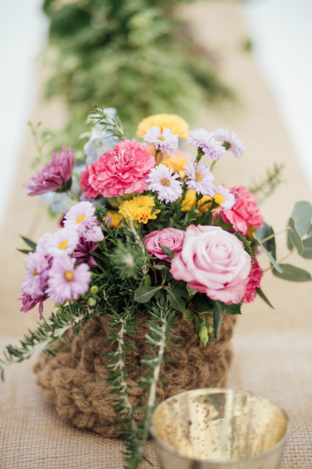 wildflower style centerpiece