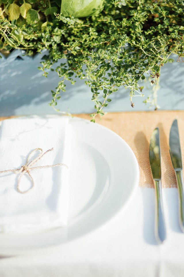 organic and clean place setting