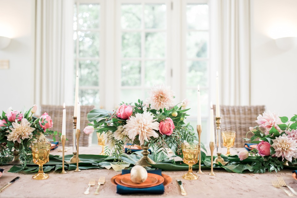 Pretty and organic floral centerpiece