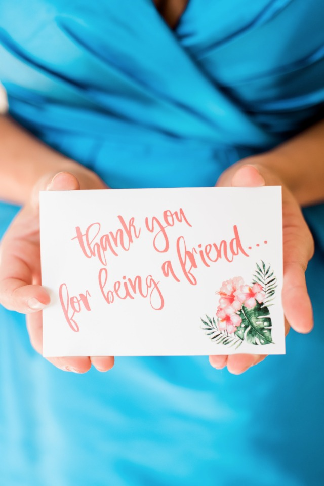Thank you note for bridal shower