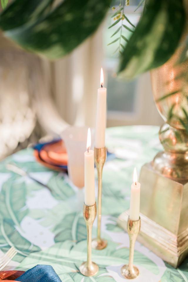 Candles are a romantic touch to any table