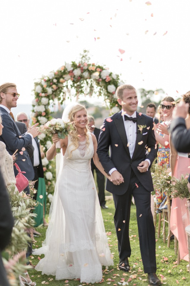 Petal toss for ceremony exit