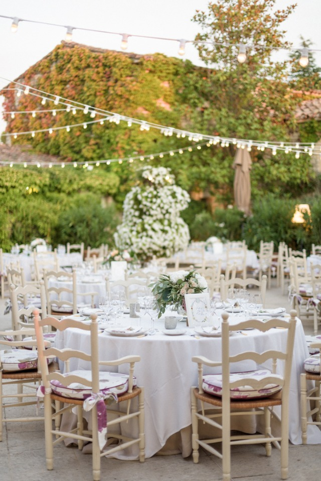 French courtyard outdoor reception