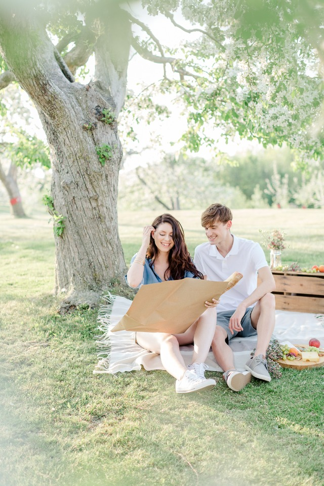 Orchard engagement shoot