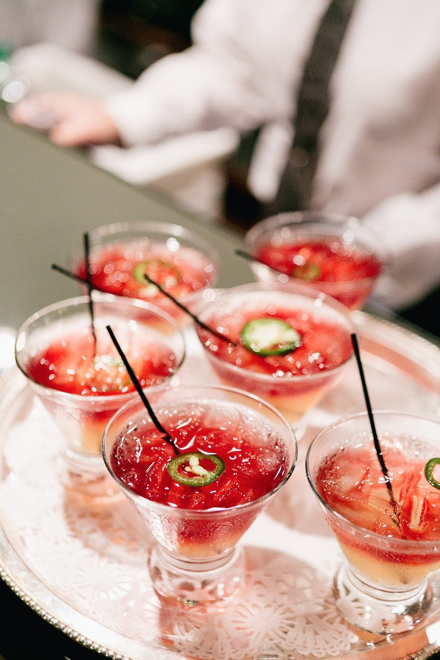 spicy little wedding cocktails