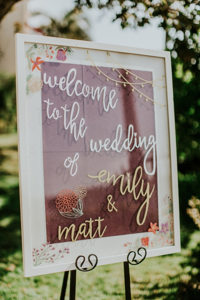 DIY custom wedding sign