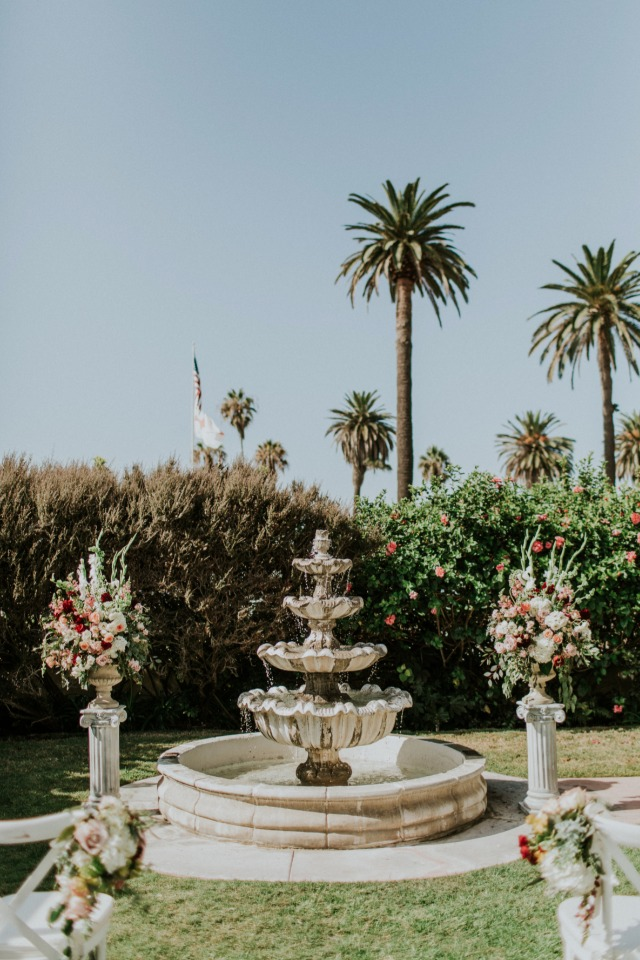 Fountain ceremony backdrop